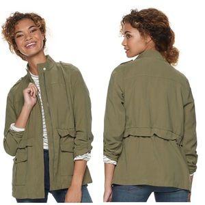 Apt. 9 roll tab sleeve utility jacket